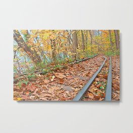Abandoned Autumn Railroad Metal Print