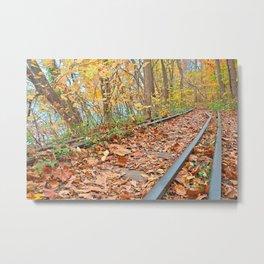 Abandoned Autumn Railroad Metal Print