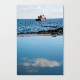 Whale watching boat Canvas Print