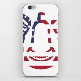 Lacrosse US Flag Head Trio iPhone Skin