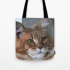 Orange cat with yellow eyes Tote Bag
