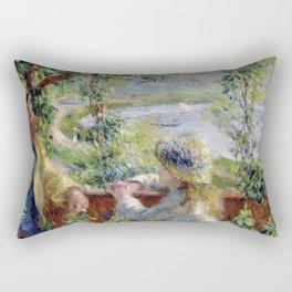 "Auguste Renoir ""By the water"" Rectangular Pillow"