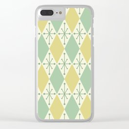 Diamonds and Starbursts Mint Clear iPhone Case