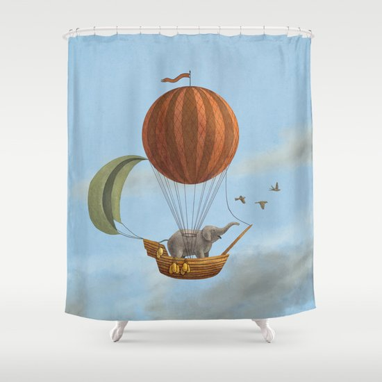 Adventure Awaits  Shower Curtain