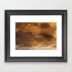orange clouds Framed Art Print