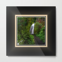 Wahkeena Falls West View, Oregon Series 2 of 2 Metal Print