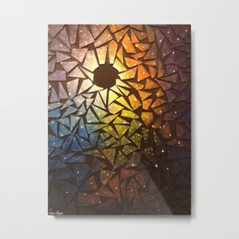 Explosion in Space Metal Print