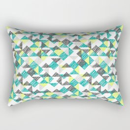 scribble triangles Rectangular Pillow