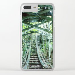 Nature  has taken over, Old Fun abandoned roller coaster Clear iPhone Case