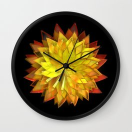 Autumn Leaves: Composition 4 Wall Clock