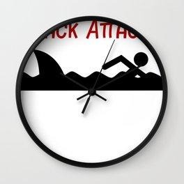 Shark Snack Attack Shark Attack Wall Clock