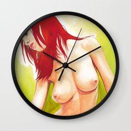 Sexy Naked Beautiful Nude Redhead Girl Erotic Art Wall Clock