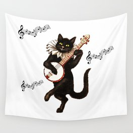 Cute Vintage Dancing Cat Wall Tapestry