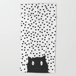 cat 55 Beach Towel