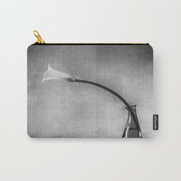 single white tulip in black and white  Carry-All Pouch