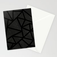 Ab Marble Zoom Black Stationery Cards