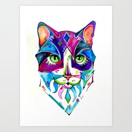 Abstract Cat 1 Art Print
