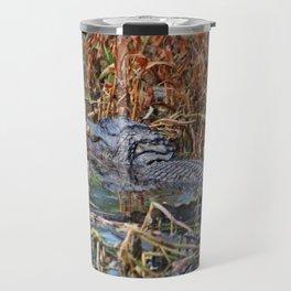 Hiding Spot For Alligator Travel Mug