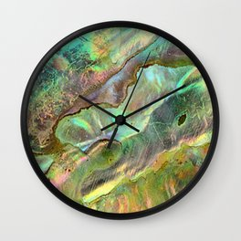 Yellow Abalone Wall Clock