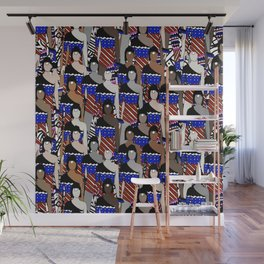 American Soldiers Unite Wall Mural