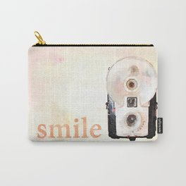 Retro Watercolor Camera SMILE! Carry-All Pouch