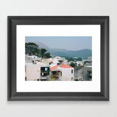 sai kung Framed Art Print