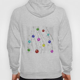 Christmas balls with background Hoody