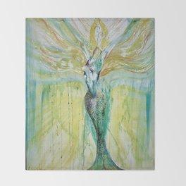 Mermaid Awakening Throw Blanket