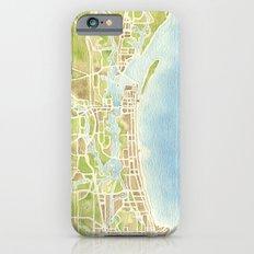 Biloxi Mississippi coast watercolor map Slim Case iPhone 6s