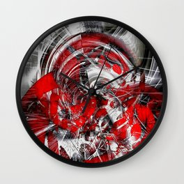 Blind in the storm Wall Clock