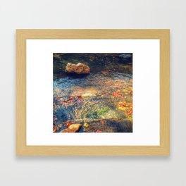 Step into the Stream Framed Art Print