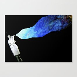 audrey in space Canvas Print