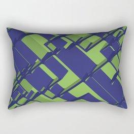 3D Abstract Futuristic Background III Rectangular Pillow