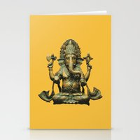 ganesha Stationery Cards featuring Ganesha by Justin Atkins