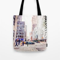 nyc Tote Bags featuring NYC by Christine Workman