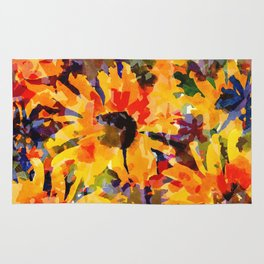 Golden Sunflower Garden Rug
