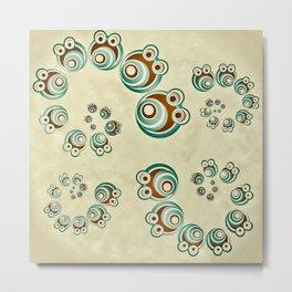 Spiral Critter Metal Print