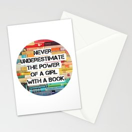 Girl with a book, RBG quote Stationery Cards