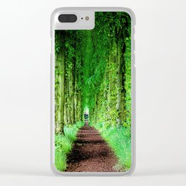 Lady Lucy's Walk Clear iPhone Case