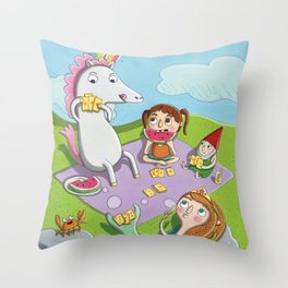 Magical Summer Throw Pillow