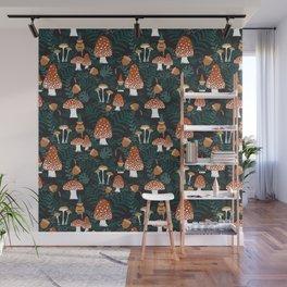 Mushroom Forest Gnomes Wall Mural