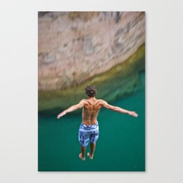 Cliff Jumping Canvas Print