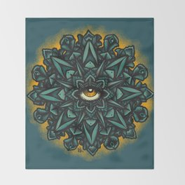 Mandala Eye - Color Variant 1 Throw Blanket