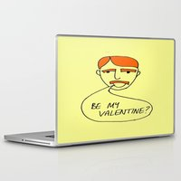 70s Laptop & iPad Skins featuring 70s Valentine by MergersMergers