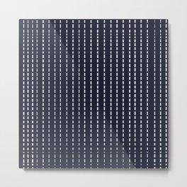 Dotted Lines on Dark Blue Metal Print