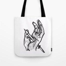Hands of a killer  Tote Bag