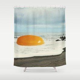 Beach Egg - Sunny side up Shower Curtain