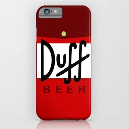 Duff Beer Logo Red iPhone Case