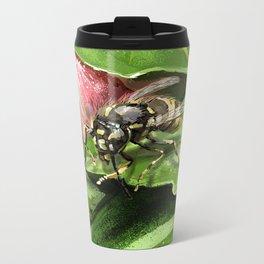 Wasp on flower16 Metal Travel Mug