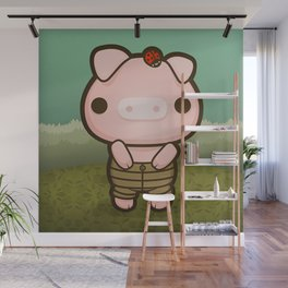 Jerome the Distracted Pig Wall Mural